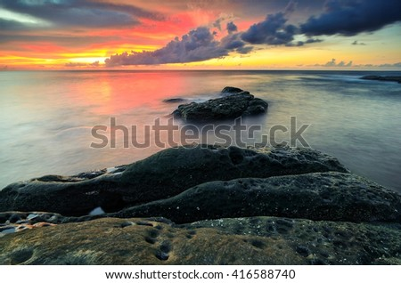 Sunset view at Tip of Borneo