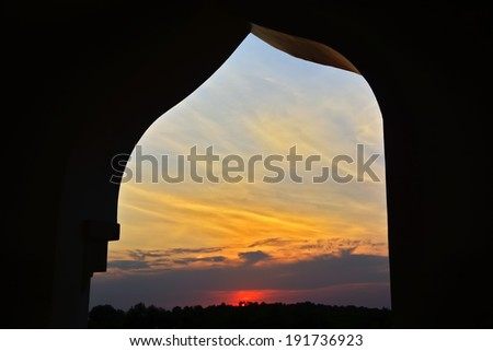 Sunset view from the Grand Mosque in the Philippines