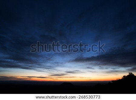 "Sunset view from the historic ""Desert View"" point at the South Rim of the Grand Canyon, AZ, USA"
