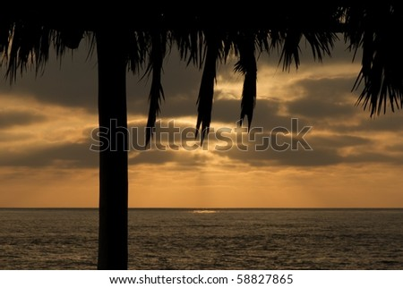 Sunset view of Pacific