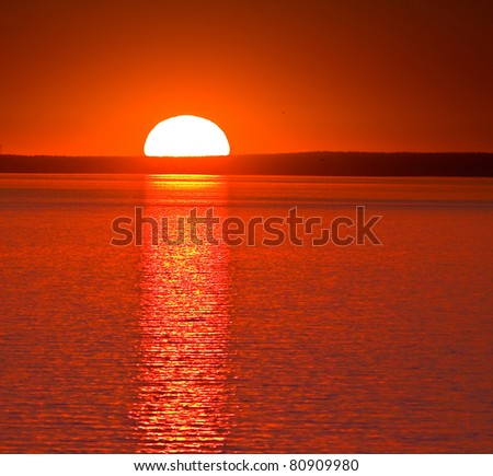 Sunset Wallpaper Heavens - stock photo