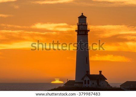 Sunset / with a lighthouse