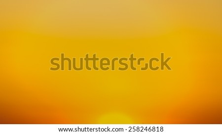 Sunset with bright Sun disk - stock photo