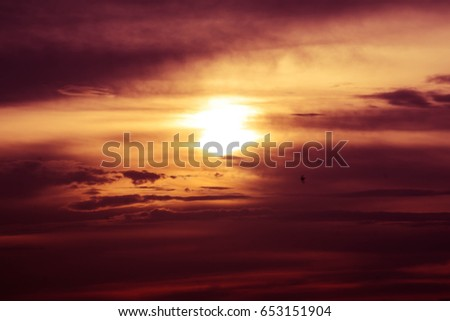 Sunset with Cloud