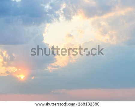 Sunset with cloudscape  - stock photo