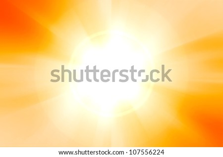 sunshine background with lens flare