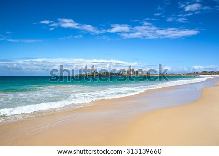 Sunshine coast beach Queensland Australia - stock photo
