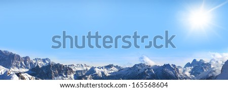 Sunshine over the alps  - stock photo