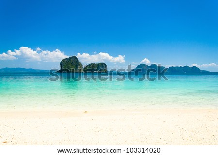Sunshine Scene Beach Holiday - stock photo