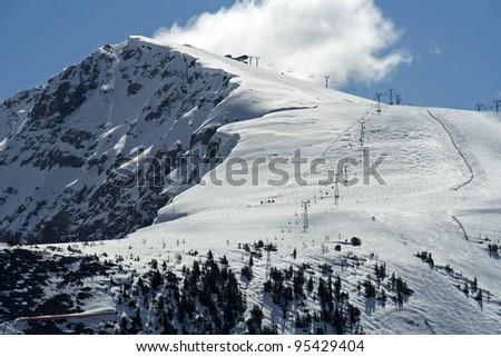 Sunshine Ski Resort, Banff national Park, Alberta, Canada - stock photo