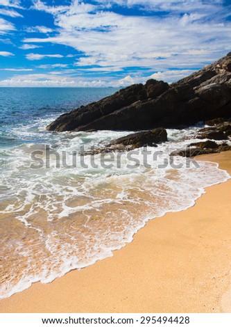 Sunshine Surf Divine Coastline  - stock photo