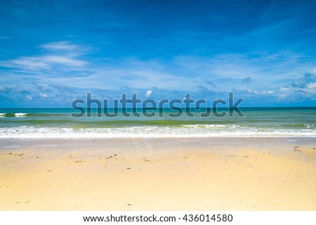 Sunshine Surf Shore Landscape