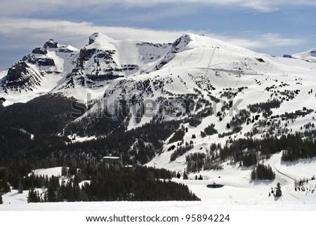 Sunshine Village Ski Resort, Banff National Park, Alberta, Canada - stock photo