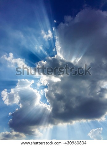 sunshine with sky and clouds