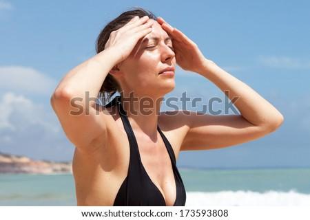 sunstroke - stock photo