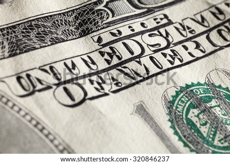 Super close up macro image of American one hundred dollar bill