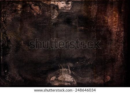 Super-grunge background in dark subtle colors - stock photo