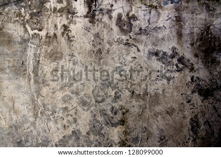 Super-grungy & dirty grey concrete texture. - stock photo