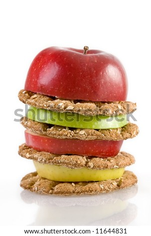 Super Healthy Hamburger - stock photo