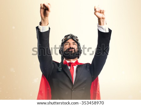 Super hero businessman