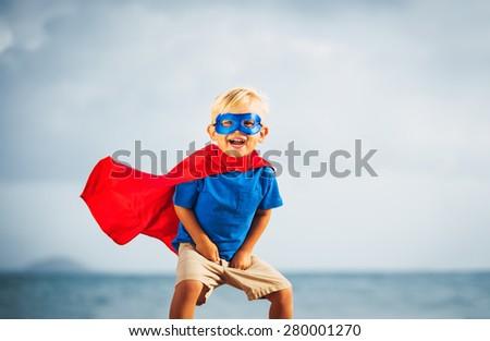 Super Hero Kid - stock photo