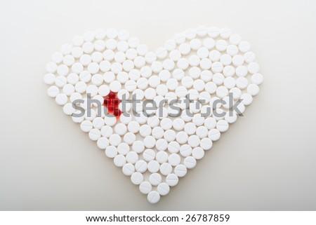 Super macro of medical pills - stock photo