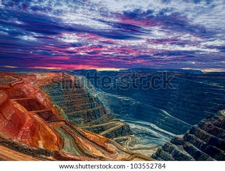 Super Pit Kalgoorlie Western Australia - stock photo