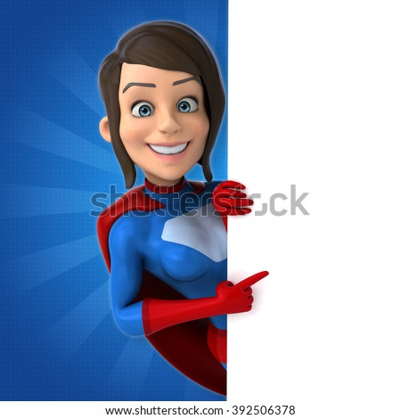 Super woman - stock photo
