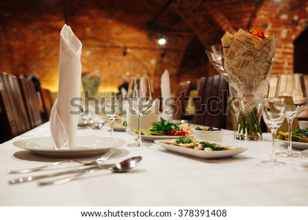 superb catering - stock photo