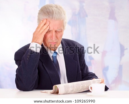 Superb elderly man, working in very different fields of activity - stock photo