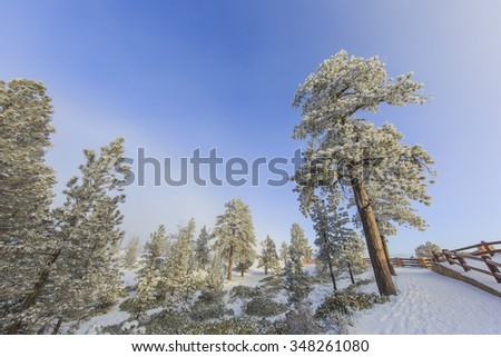 Superb view of  Inspiration Point of Bryce Canyon National Park at Utah - stock photo