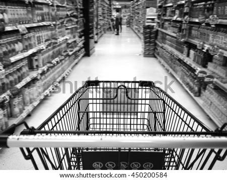 supermarket - stock photo