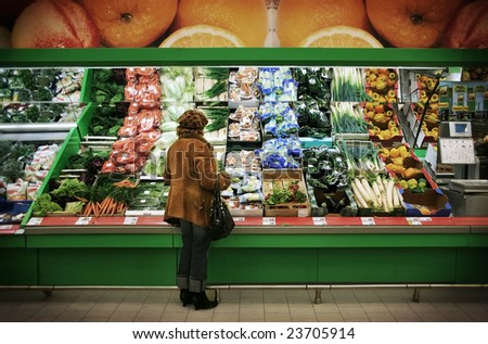 Supermarket (all logos are removed) - stock photo
