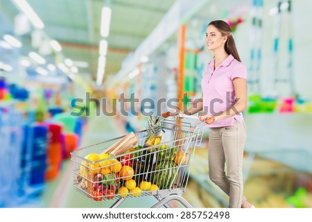 Supermarket, Groceries, Shopping.