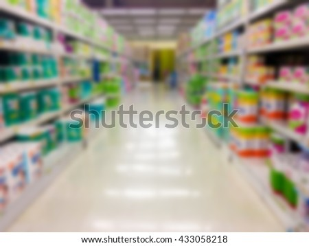Supermarket in blurred for background