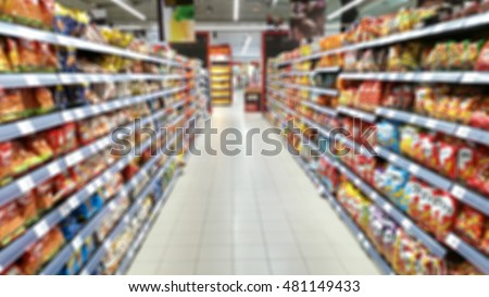 supermarket out of focus
