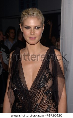 Supermodel HEIDI KLUM at the 16th Annual World Music Awards at the Thomas and Mack Centre, Las Vegas. September15, 2004