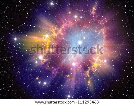 Supernova Explosion - stock photo