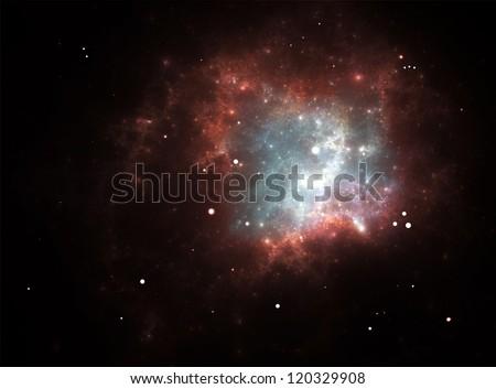 Supernova Explosion - stock photo