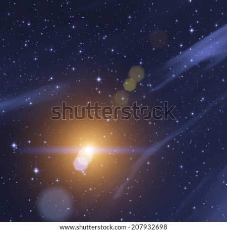 Supernova flare. - stock photo