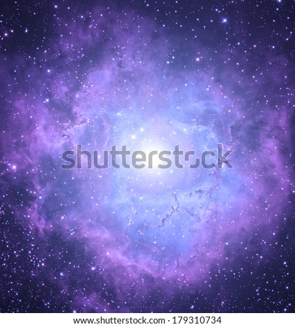 Supernova nebula in deep space.  - stock photo
