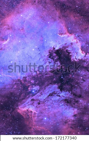 Supernova remnant. - stock photo