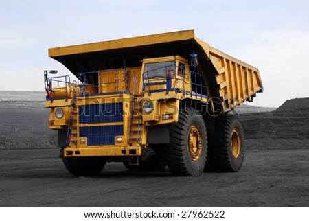 Supersize autodump-body truck - stock photo