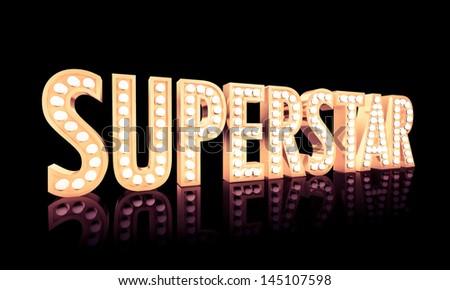 Superstar - stock photo