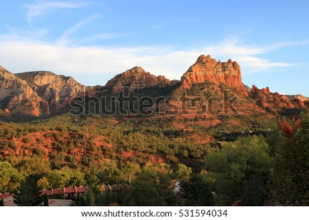 Superstition mountains in Arizona, USA