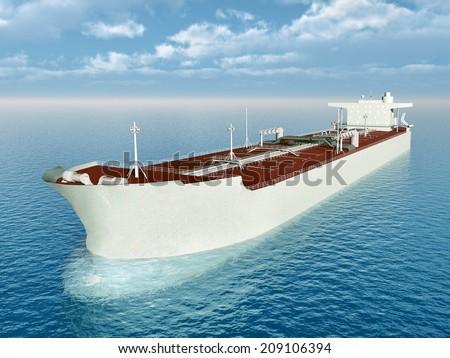 Supertanker Computer generated 3D illustration - stock photo