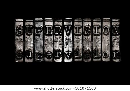Supervision concept - stock photo