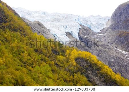 Supphellebreen Glacier, Jostedalsbreen National Park, Norway - stock photo