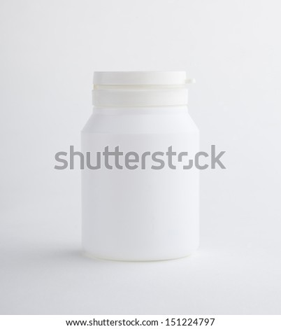 Supplementary food bottle isolated on white background