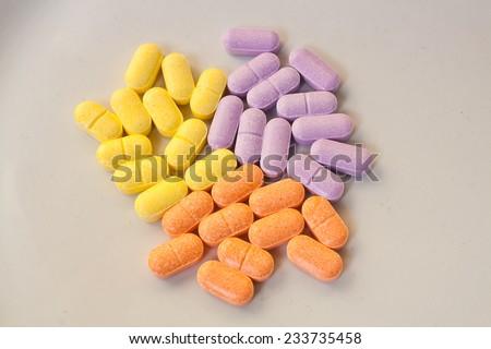 Supplementary Vitamin - stock photo